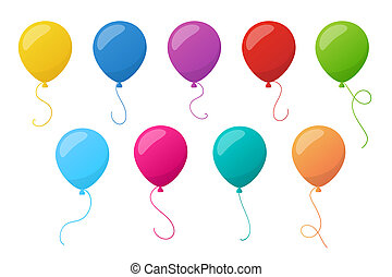 Holiday colorful balloons Vector - Set of holiday colorful...
