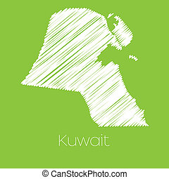 Map of the country of Kuwait - A Map of the country of...