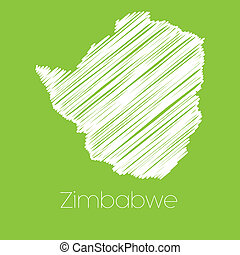 Map of the country of Zimbabwe - A Map of the country of...