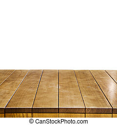 Empty wooden table top - Empty wooden table for product...
