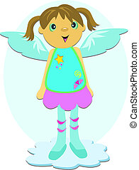 Angel with Blue Wings