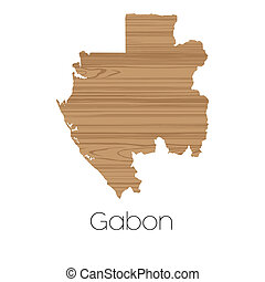 Country Shape isolated on background of the country of Gabon...