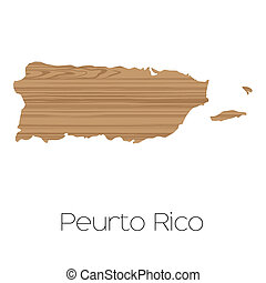 Country Shape isolated on background of the country of Puerto Rico