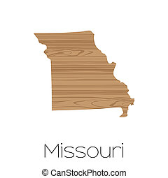 Illustrated Shape of the State of Missouri - An Illustrated...