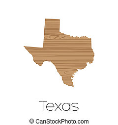 Illustrated Shape of the State of Texas - An Illustrated...