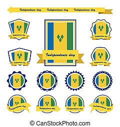 st vincent & the grenadines independence day flags...