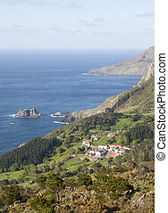 View of San Andres de Teixido, a small and famous village...