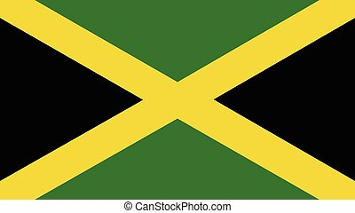 jamaica Flag for Independence Day and infographic Vector...