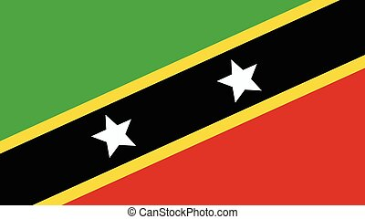 st kitts & nevis Flag for Independence Day and infographic...