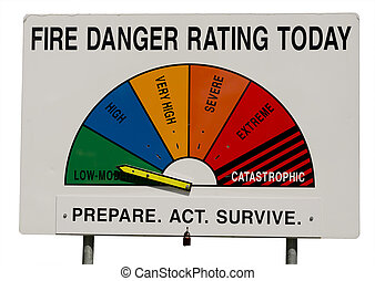 Fire Danger Rating Display Board - Low-Moderate