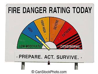 Fire Danger Rating Display Board - High