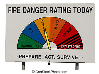 Fire Danger Rating Display Board - Very High