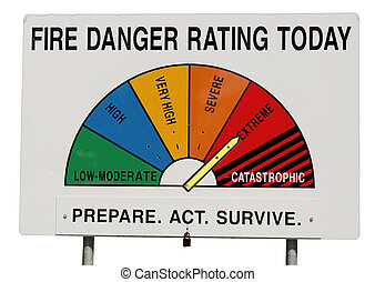 Fire Danger Rating Display Board - Extreme