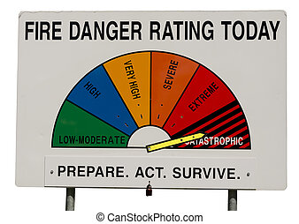 Fire Danger Rating Display Board - Catastrophic
