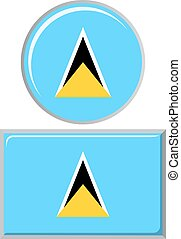 Saint Lucia round and square icon flag