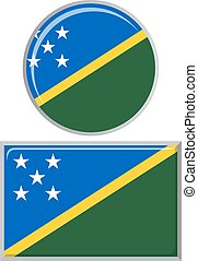 Solomon Islands round and square icon flag