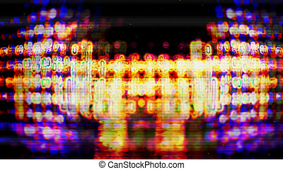 Futuristic Screen Display Pixels 10481 - Futuristic, video...