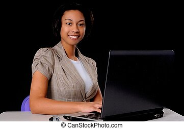 Young African American Businesswoman - Lovely African...