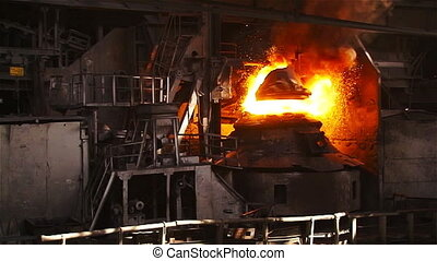 Purging metal in a basic oxygen furnace. overall plan slowed...