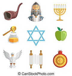 Rosh Hashana Jewish New Year Yom Ki - Icons Of Jewish New...