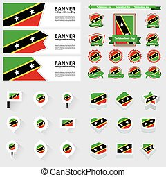 st kitts & nevis independence day, infographic, and label...