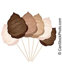 chocolate cotton candy - a vector illustration in eps 10...