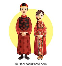 Chinese Marriage Wedding Outfit Cer