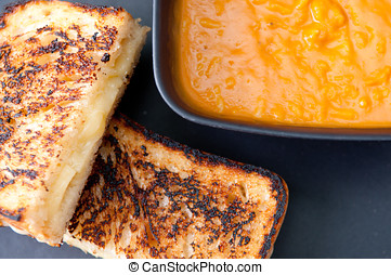 grilled cheese sandwich and soup - grilled cheese sandwich...