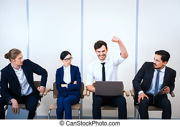 Concept for young modern business team - Photo of young...