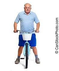 homme, Personnes Agées, Vélo