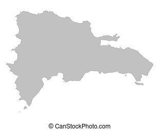 grey map of Dominican Republic