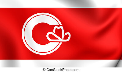 Flag of Calgary City, Canada. - 3D Flag of Calgary City,...