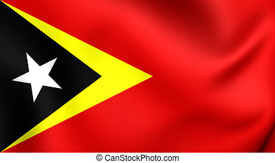 Flag of East Timor - 3D Flag of East Timor Close Up