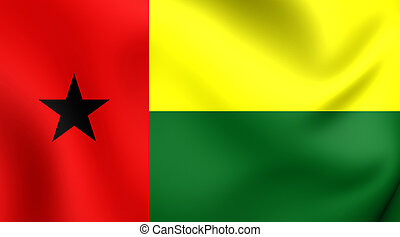 Flag of Guinea-Bissau - 3D Flag of the Guinea-Bissau Close...