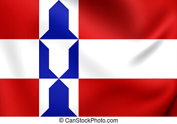 Flag of Houten Utrecht, Netherlands - 3D Flag of Houten...