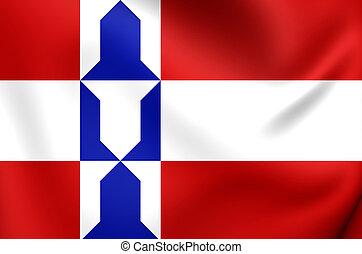 Flag of Houten Utrecht, Netherlands - 3D Flag of Houten...