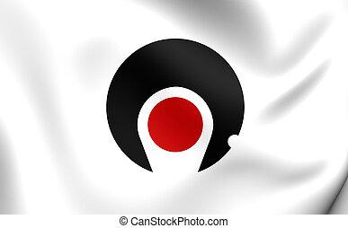 bandeira, de, Kagoshima, Prefecture, Japan., ,