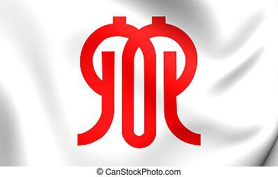 bandeira, de, Kanagawa, Prefecture, Japan., ,