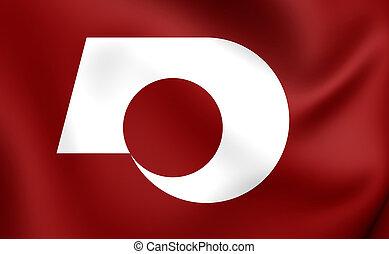 bandeira, de, Kumamoto, Prefecture, Japan.,