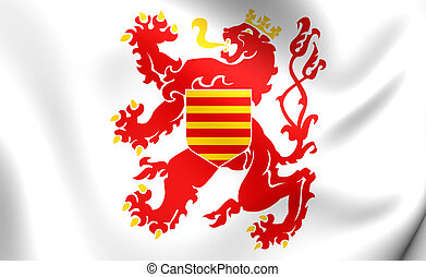 Flag of Limburg Province, Belgium - 3D Flag of Limburg...