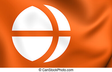 bandeira, de, nagano, Prefecture, Japan., ,