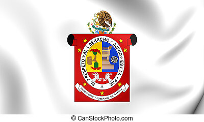 Flag of Oaxaca State, Mexico. - 3D Flag of Oaxaca State,...