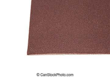 Sand paper isolated on white