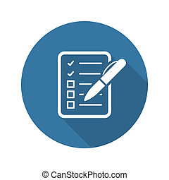 Check List Icon Business Concept Flat Design Isolated...