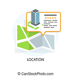 Location Icon. Locating Your Business. Flat Design. Isolated...