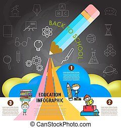 back to school infographic design element