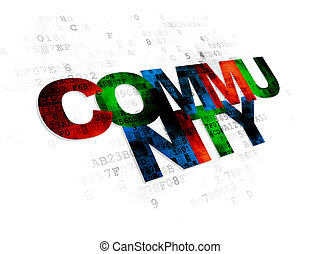 Social network concept: Community on Digital background
