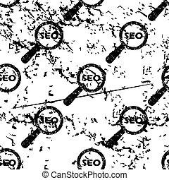 SEO search pattern, grunge, monochrome - SEO search pattern,...