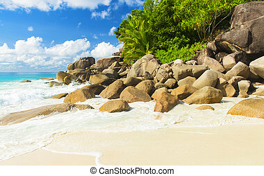 Anse Georgette - Beautifully shaped granite boulders and a...