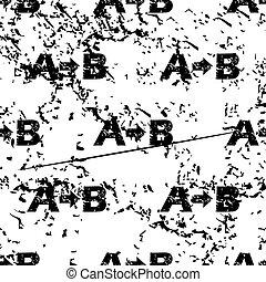 A-B logic pattern, grunge, monochrome - A-B logic pattern,...
